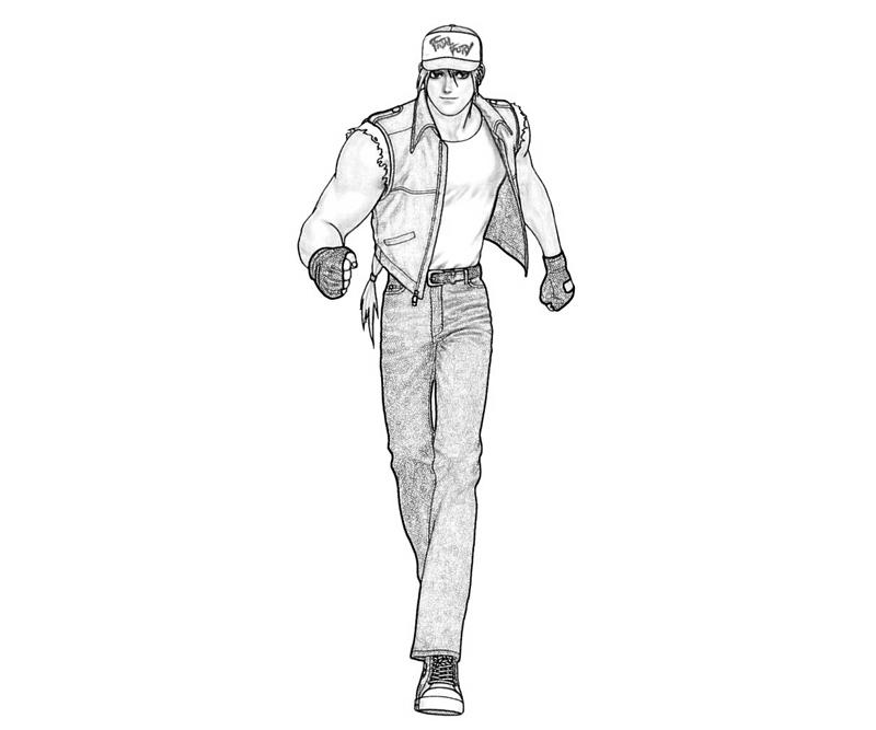 king-of-fighters-terry-bogard-move-coloring-pages