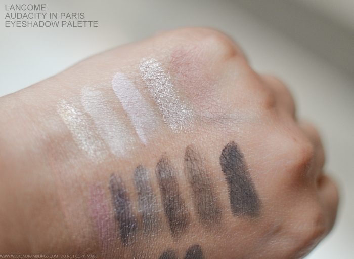 Lancome Lisa Eldridge Audacity in Paris Eyeshadow Palette Swatches Photos