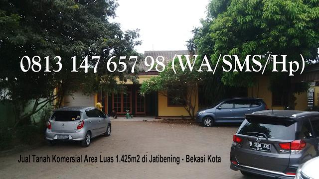 Jual Tanah Komersial Area Luas 1.425m2 di Jatibening - Bekasi Kota