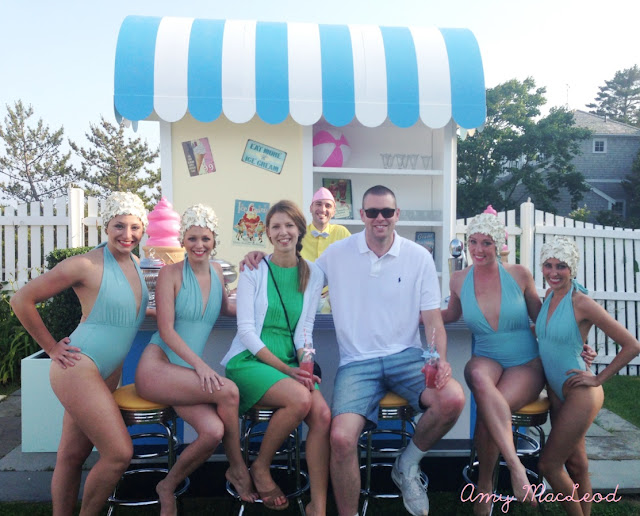 50's Pool party with Sundae Bar