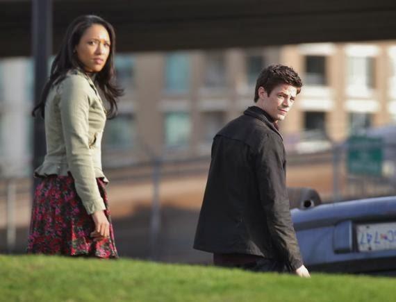 Fotografías de Grant Gustin y Cia. en el rodaje de The Flash