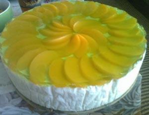 Ленивый кекс с персиками рецепт