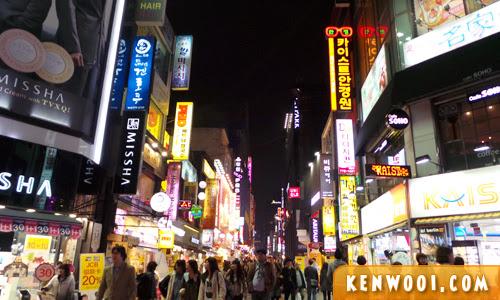 seoul myeongdong night