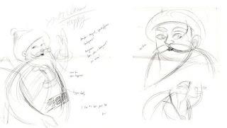 gesture drawings of Santa