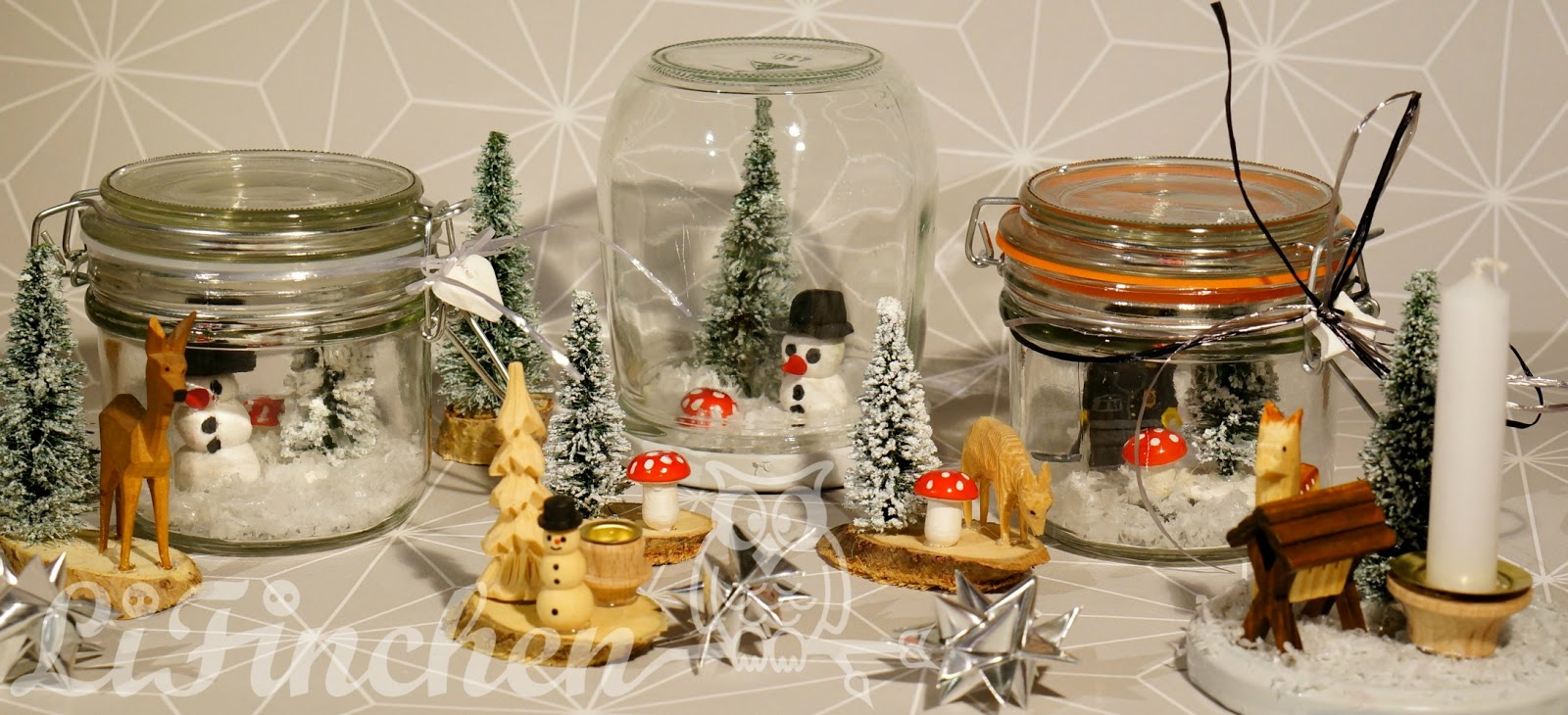 lifinchen winterlandschaft im glas. Black Bedroom Furniture Sets. Home Design Ideas