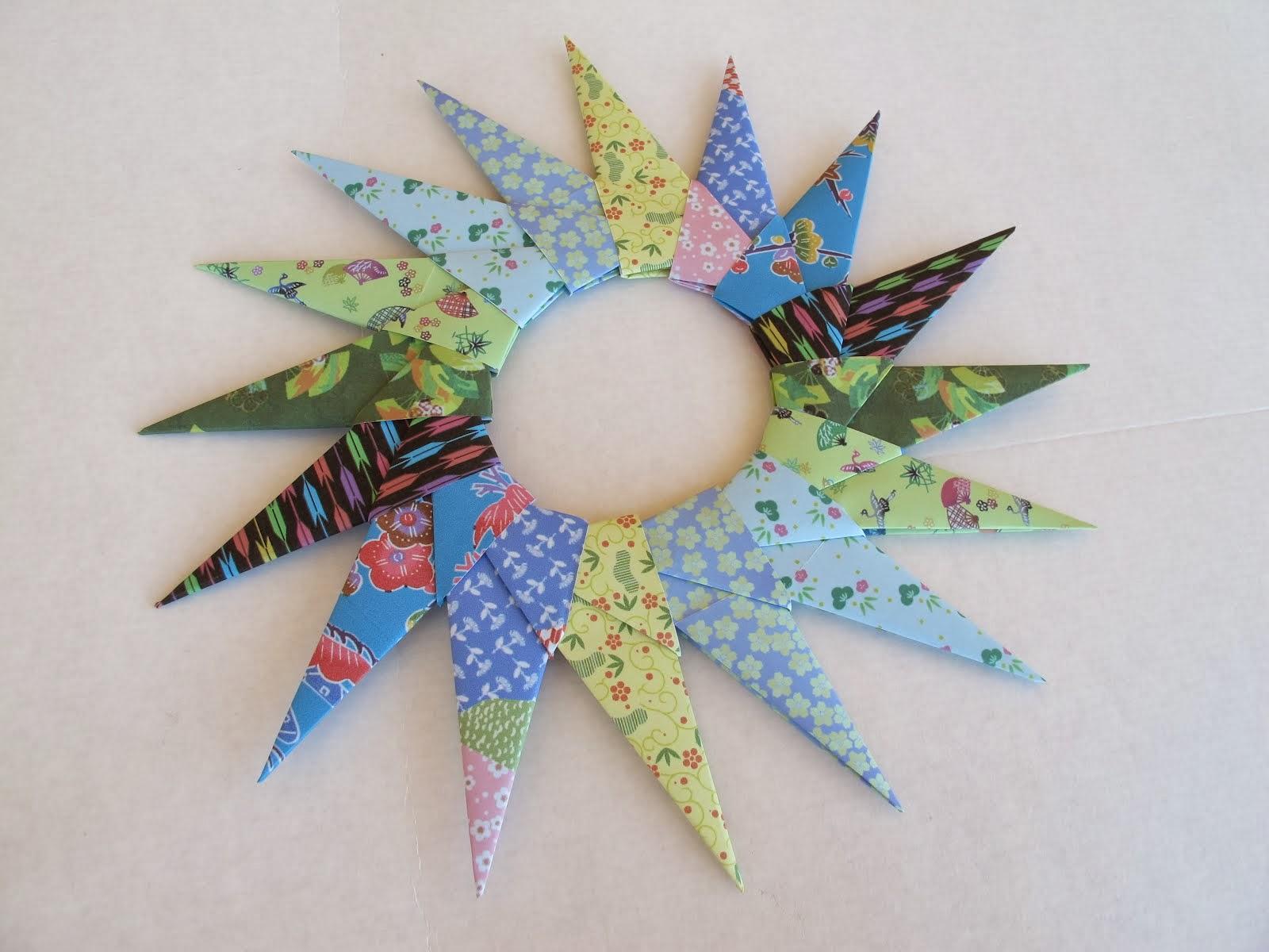 Estrela em origami