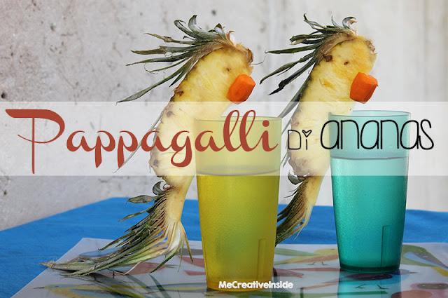 tutorial diy pappagalli di ananas estate ME creativeinside