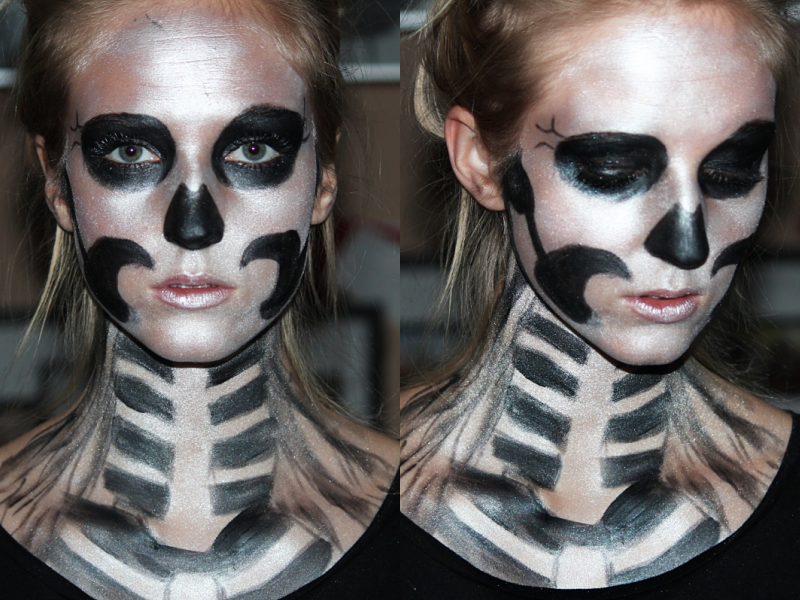 halloween skull makeup tutorial. Black Bedroom Furniture Sets. Home Design Ideas