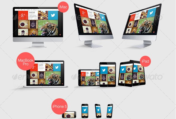 Graphicriver Responsive Web Mockups Pack