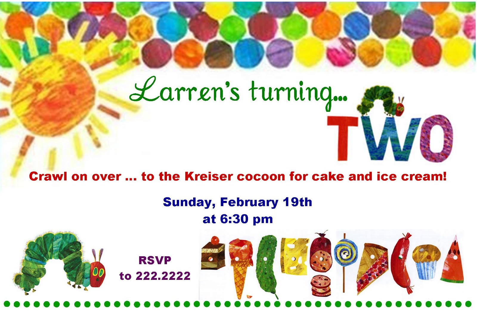 Kreiser Connections: Hungry Caterpillar Par-tay!