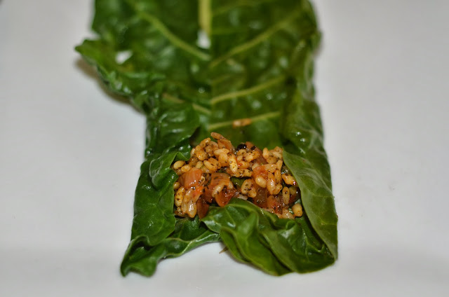 stuffed silverbeet recipe