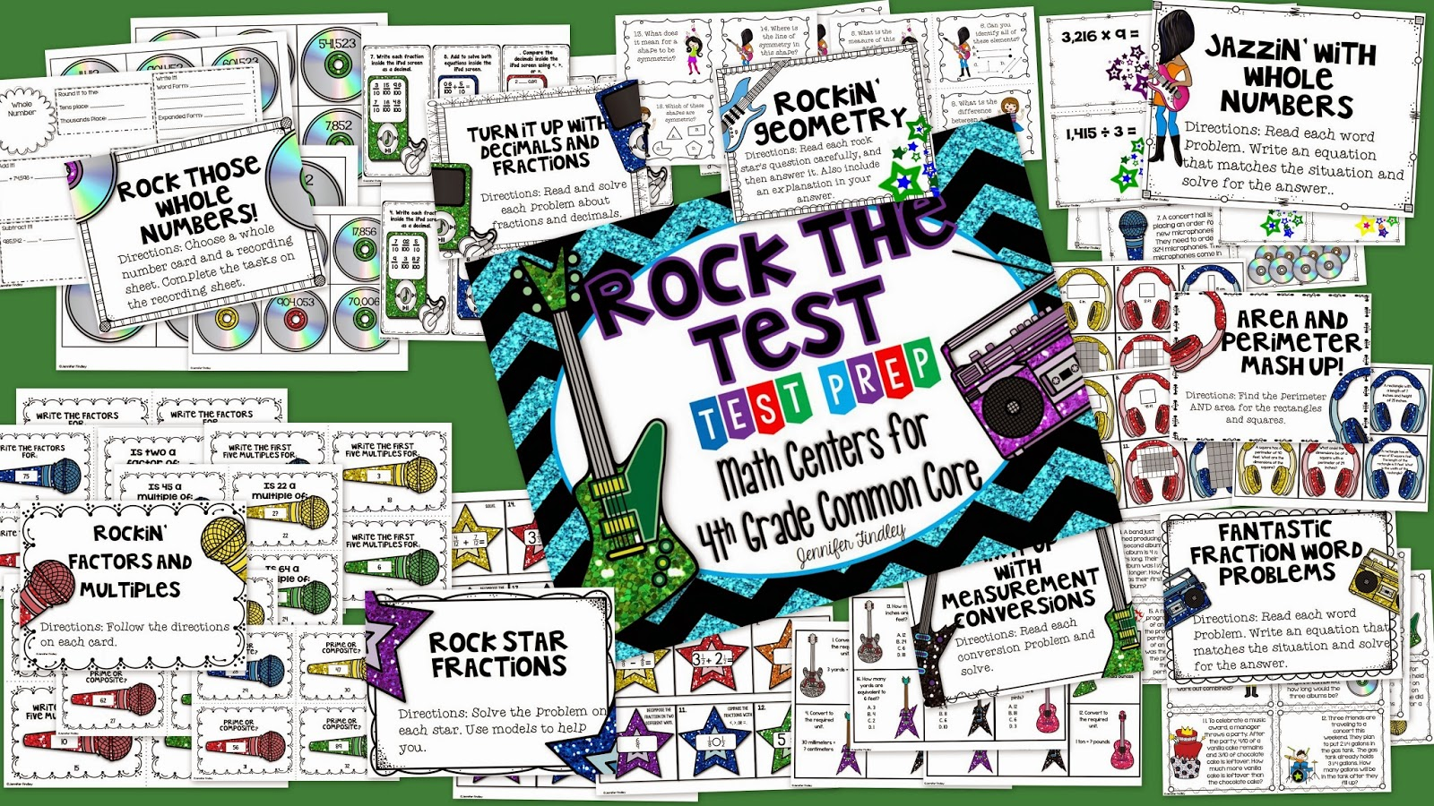 http://www.teacherspayteachers.com/Product/Rock-the-Test-Common-Core-Test-Prep-Math-Centers-for-4th-Grade-1092965