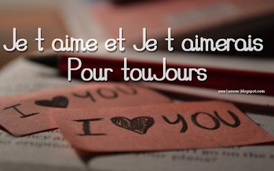 Beau sms d'amour je t'aime a chérie