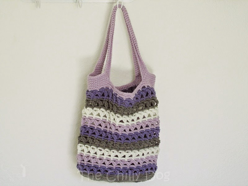 The Chilly Dog: Crochet Pattern: Scrap Yarn Tote