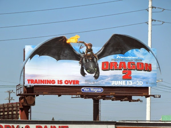 How to Train Your Dragon 2 special extension movie billboard