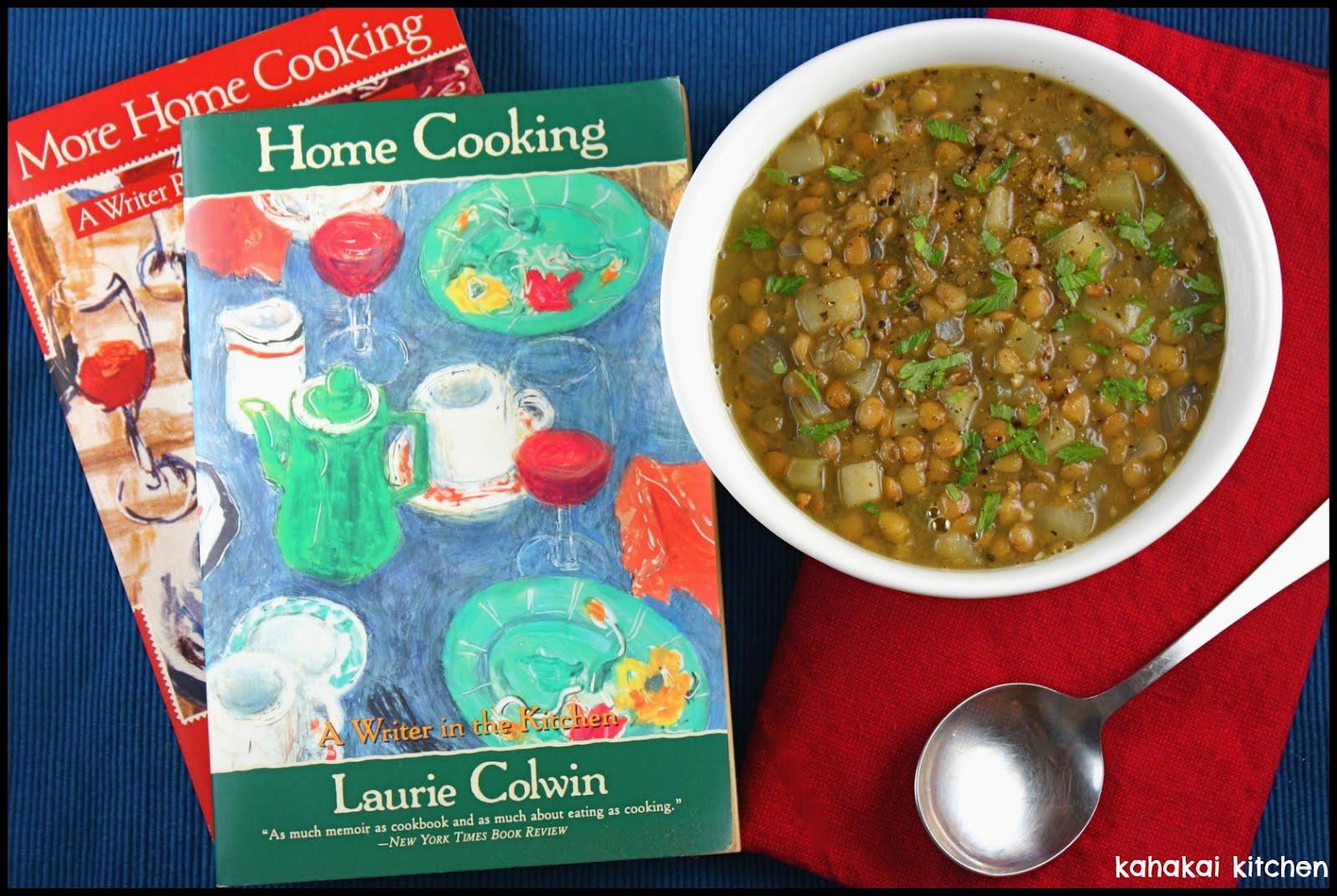 Kahakai Kitchen: Wonderful Lentil Soup for Cook the Books: \