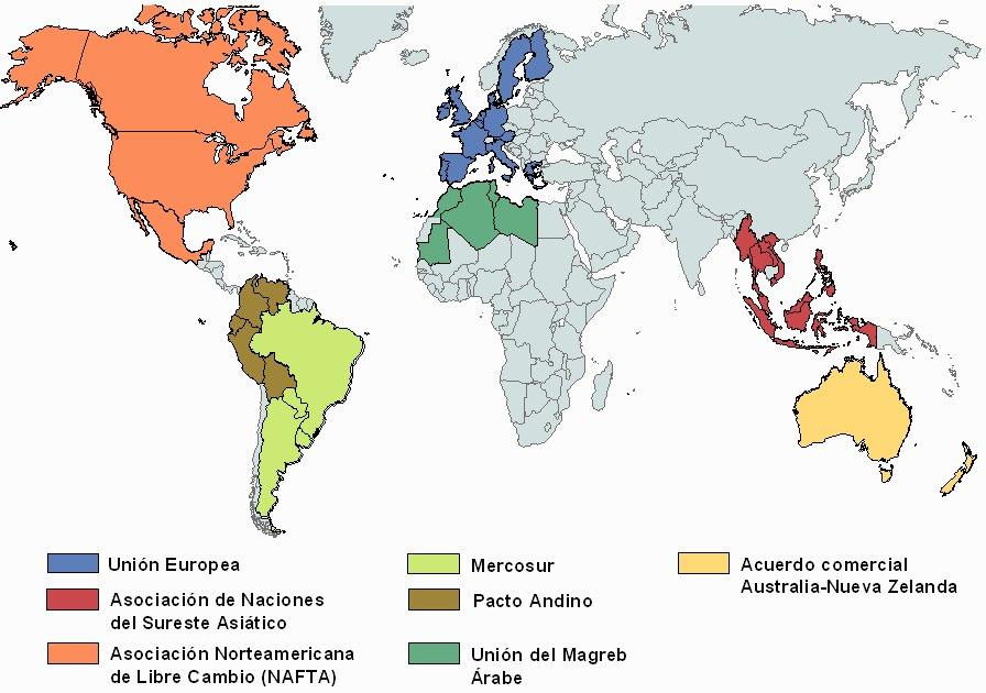 lista de organizaciones mundiales: