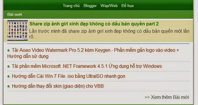 Share Template Blogspot đẹp phiên bản Mobile 24h.com.vn