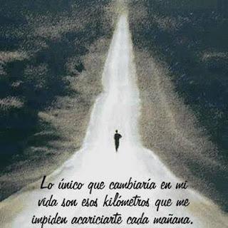 imagen de un camino y un hombre con una frase de amor
