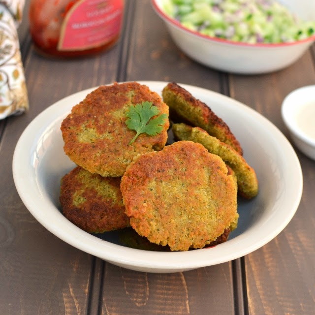 Falafel (Eggless, Lower fat recipe)