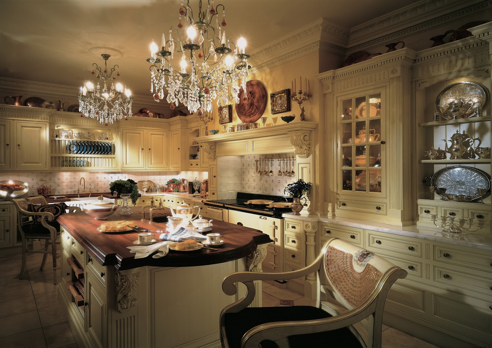 Tradition interiors of nottingham clive christian the company Victorian kitchen design layout