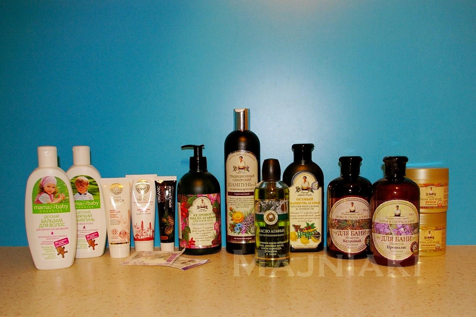 kosmetyki ekologiczne, babuszka agafii, natura siberica, mama and baby, pielęgnacja włosów
