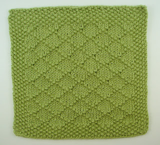knit washcloth green