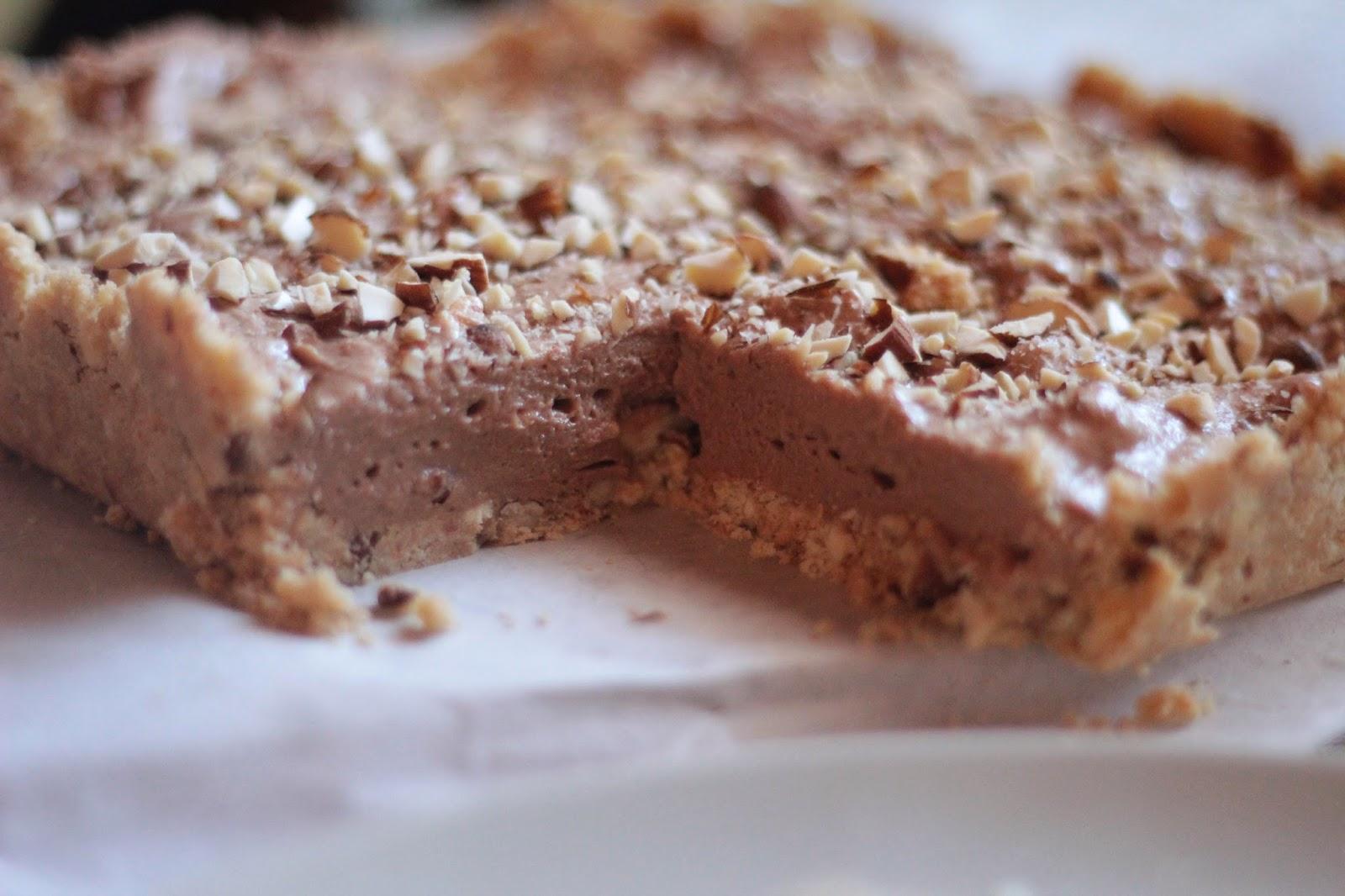 Mazurek czekoladowo-orzechowy bez pieczenia