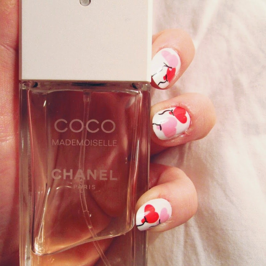 elegant touch nails valentines chanel perfume blogger