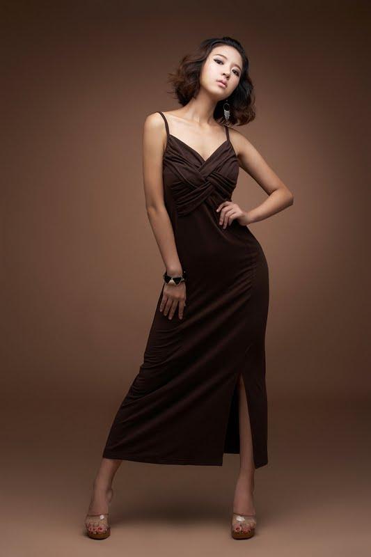 Yoon Joo Ha Lovely and Brown Dress