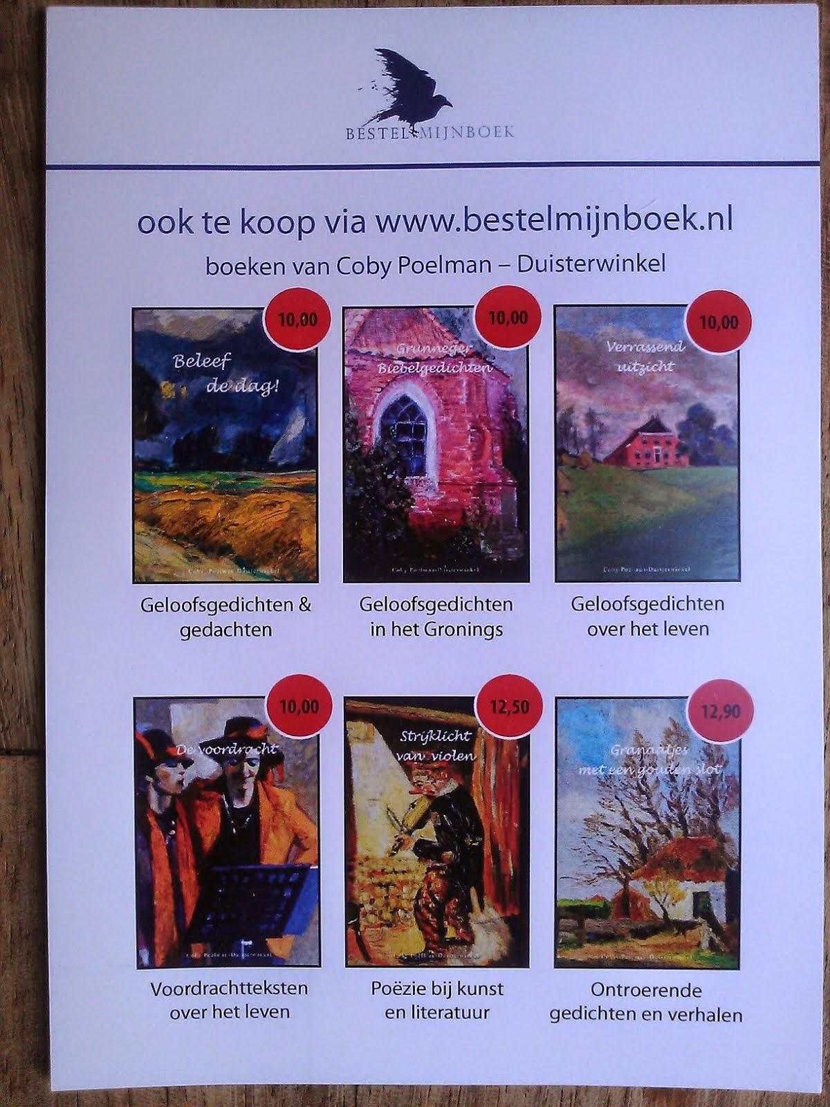 Boeken verkrijgbaar via bol.com en de boekhandel, voor een preview kunt u de foto aanklikken.