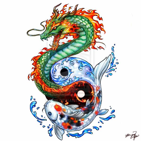 Pez koi car interior design for Koi dragon meaning