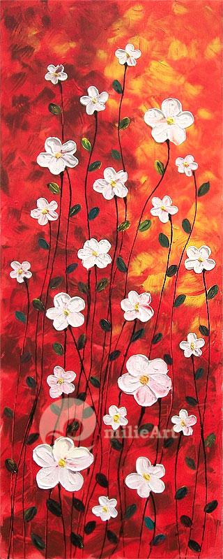 lukisan bunga putih