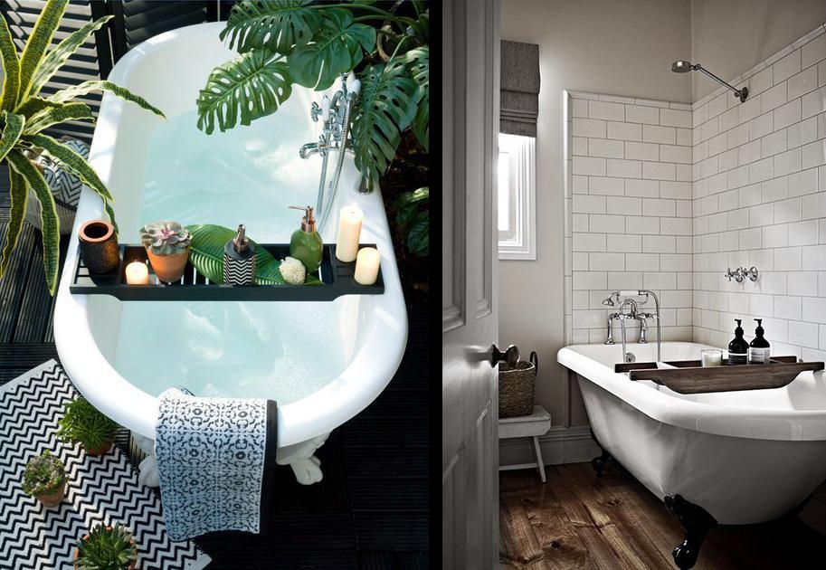 La fabrique d co baignoires sur pieds et salle de bain for Deco sdb 2016
