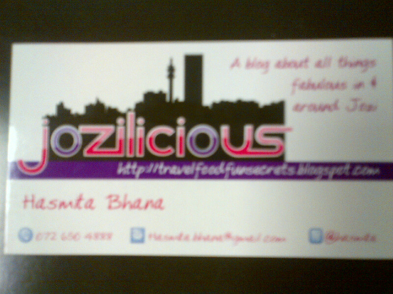 Blog Business Cards – Jozilicious – a Johannesburg based food ...