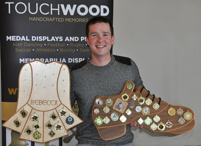 Fergal Costello with Touchwood Handcrafted Memories Photo: courtesy Fergal Costello