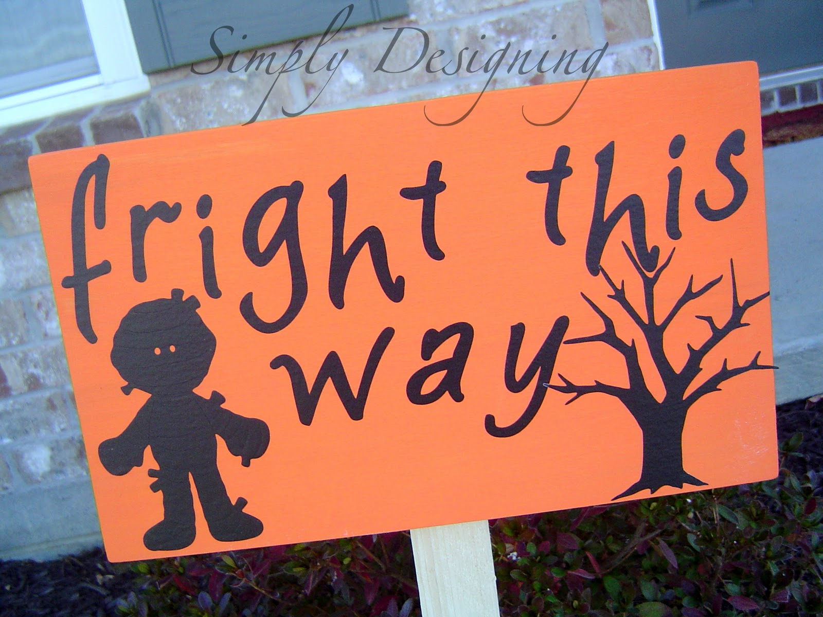 PB Knock-off Halloween Wooden Signs