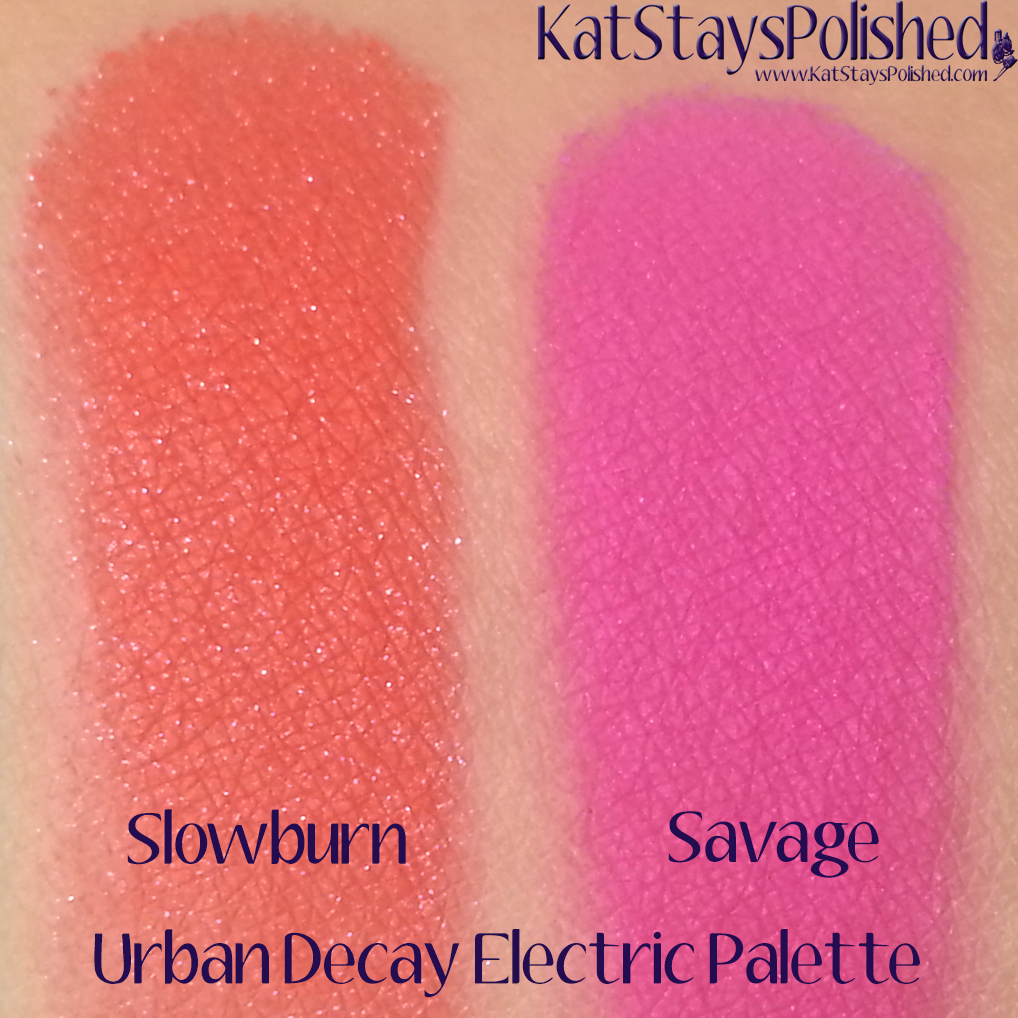 Urban Decay Electric Palette - Slowburn and Savage | Kat Stays Polished