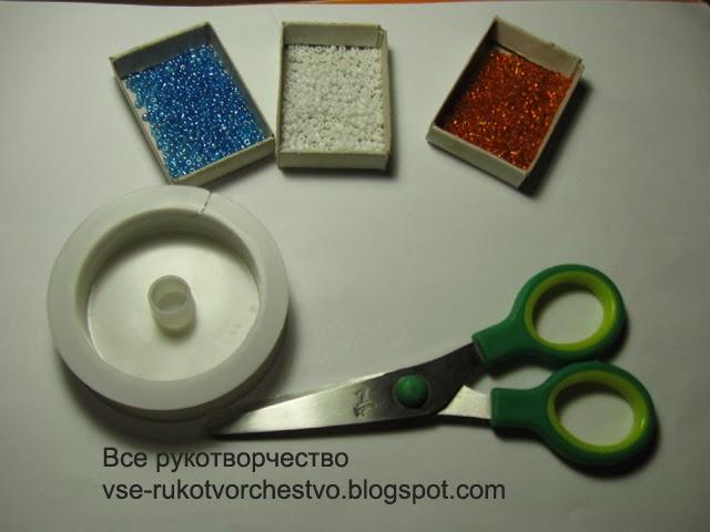 Подснежник из бисера схема лепестка