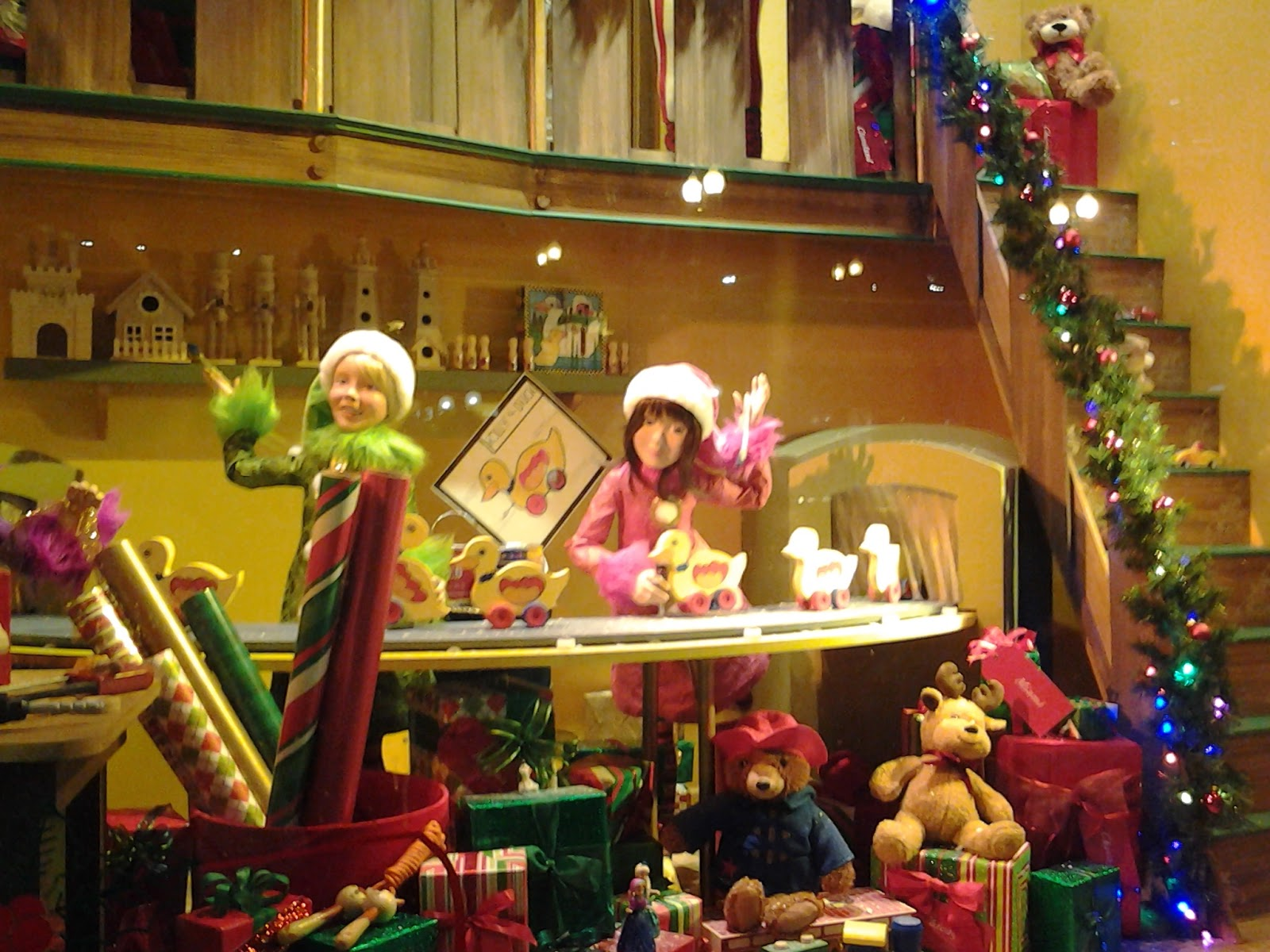 Chicago Macy's Christmas Windows 2014; The Elves