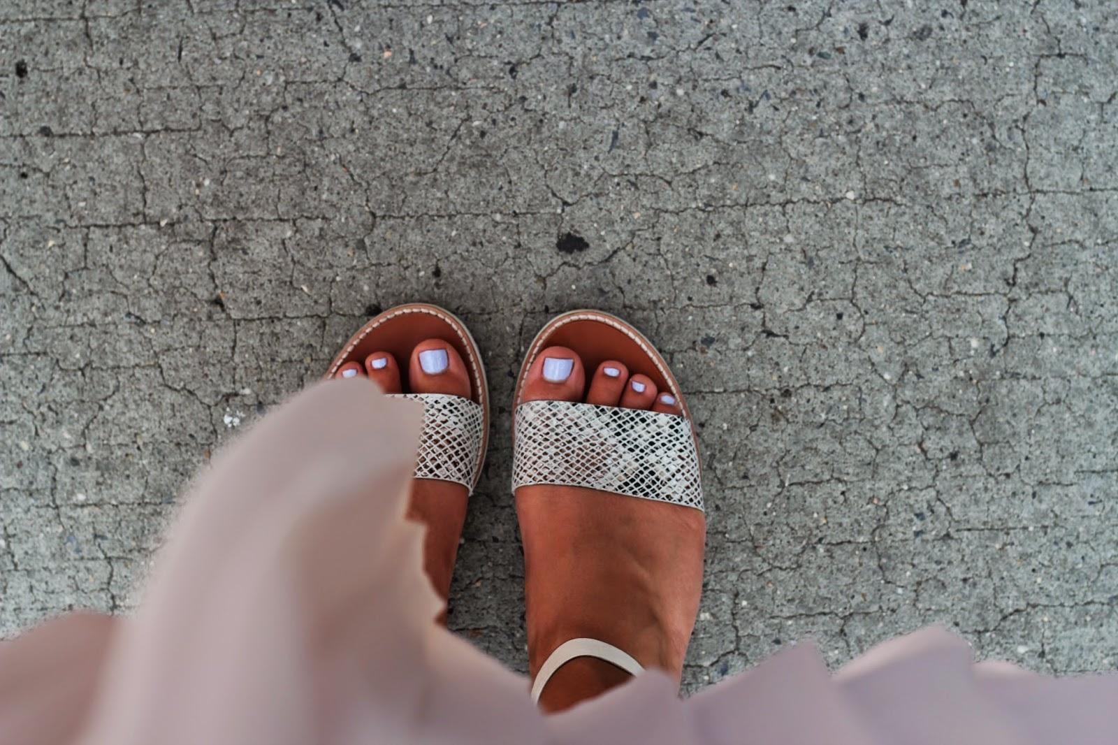 Skirt, Sandals, Snake Skin
