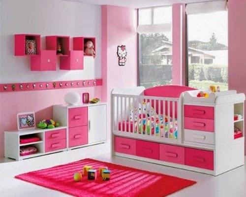 Une jolie Décoration chambre bébé rose