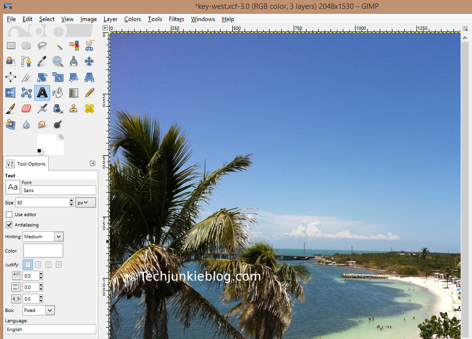 GIMP original photo size