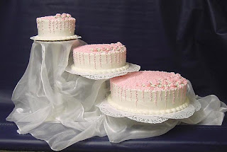 Beautiful 3 Tier Wedding Cake stands