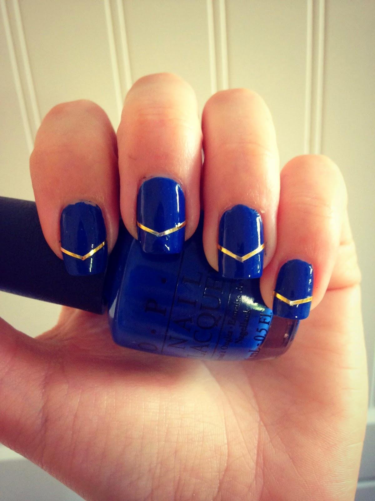 OPI Blue manicure