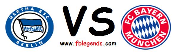 مشاهدة مباراة هيرتا برلين وبايرن ميونخ بث مباشر اليوم السبت 25-4-2015 اون لاين الدوري الالماني يوتيوب لايف bayern munich vs hertha berlin