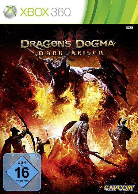 La portada oficial de Dragon's Dogma: Dark Arisen para XBOX 360