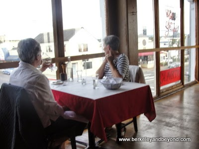 interior of Mendo Bistro restaurant in Fort Bragg, California