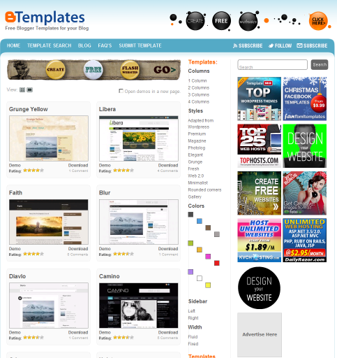 blogger templates, blogs, modelos, free templates, layouts, themes