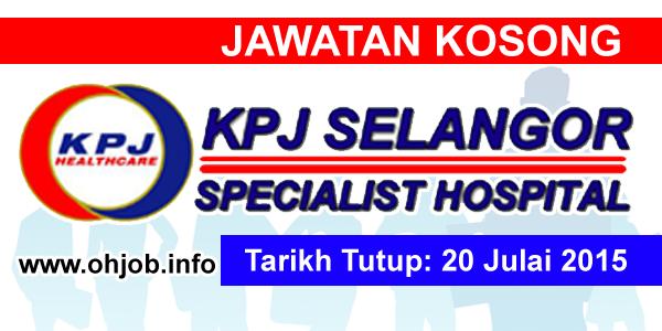 Jawatan Kerja Kosong KPJ Selangor Specialist Hospital logo www.ohjob.info julai 2015